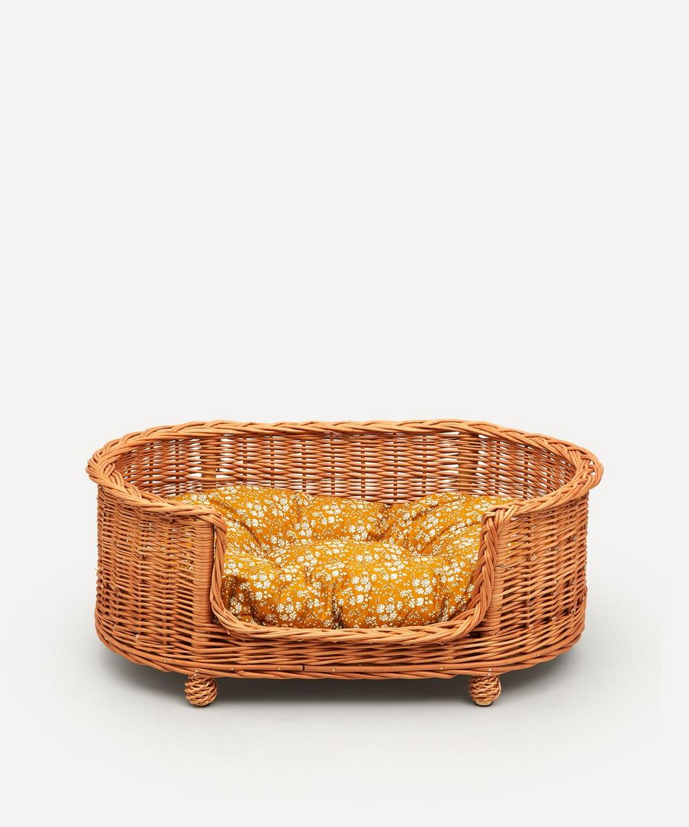 Coco & Wolf - Capel Print Oval Rattan Dog Bed