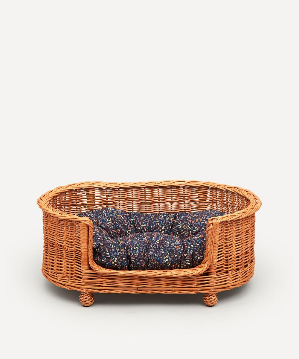 Coco & Wolf - Donna Leigh Print Oval Rattan Dog Bed