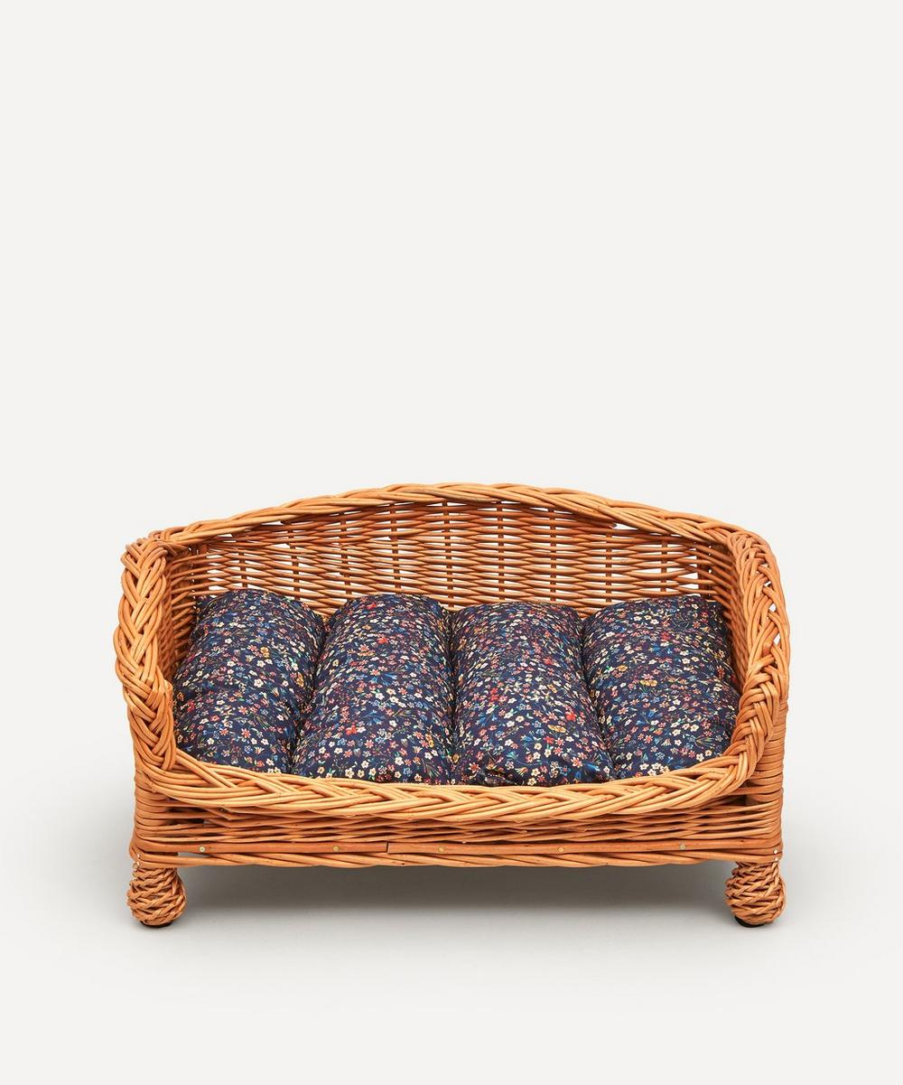 Coco & Wolf - Donna Leigh Print Rattan Dog Bed