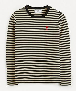 Logo Stripe Cotton T-Shirt