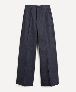 Straight-Fit High-Waist Jeans