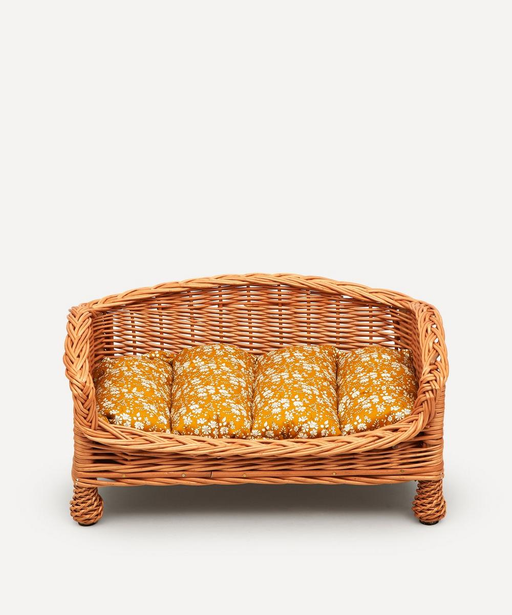 Coco & Wolf - Capel Print Rattan Dog Bed