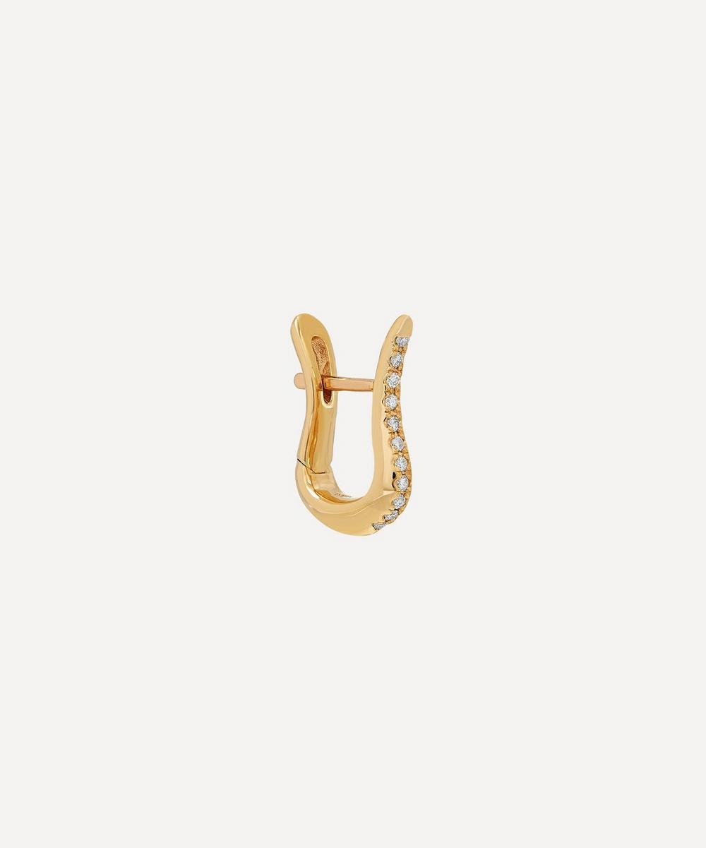 Hirotaka - Gold Cygnus Diamond Hoop Earring