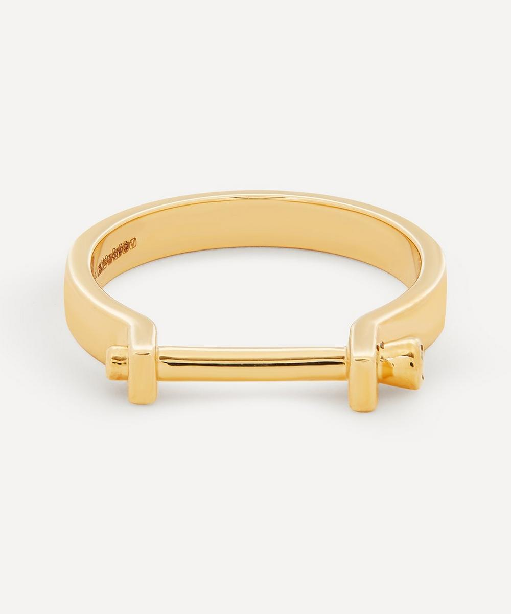 Hirotaka - Gold Indústria 3mm Diamond Ring