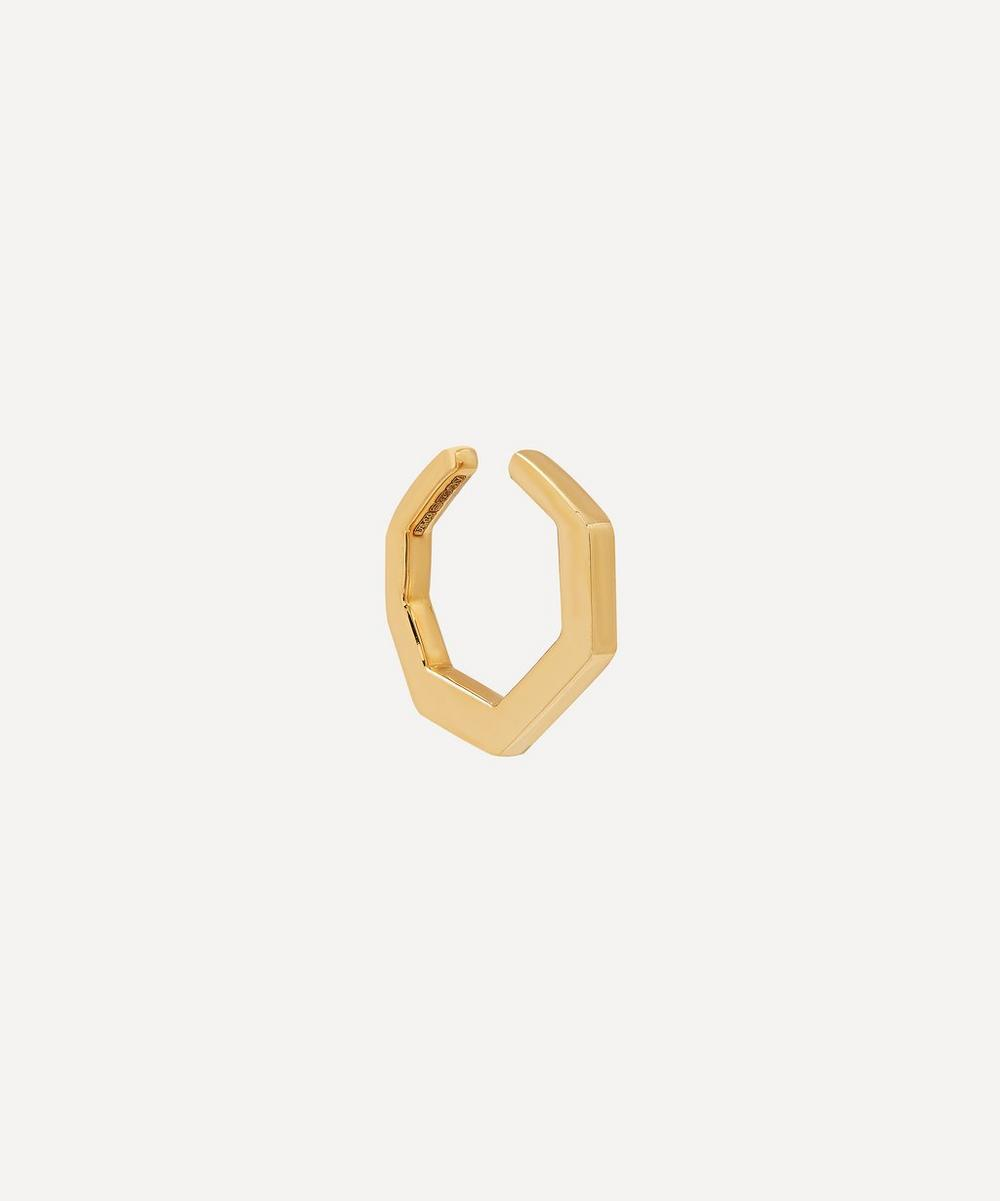 Hirotaka - Gold Small Octagon Ear Cuff