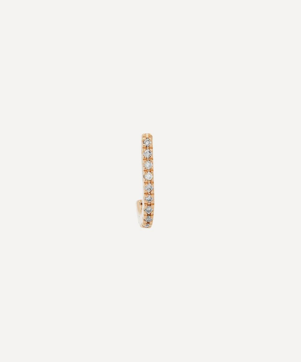 Hirotaka - Gold Small Inner Hook Diamond Earring