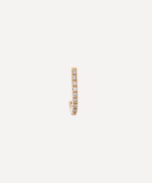 Gold Small Inner Hook Diamond Earring