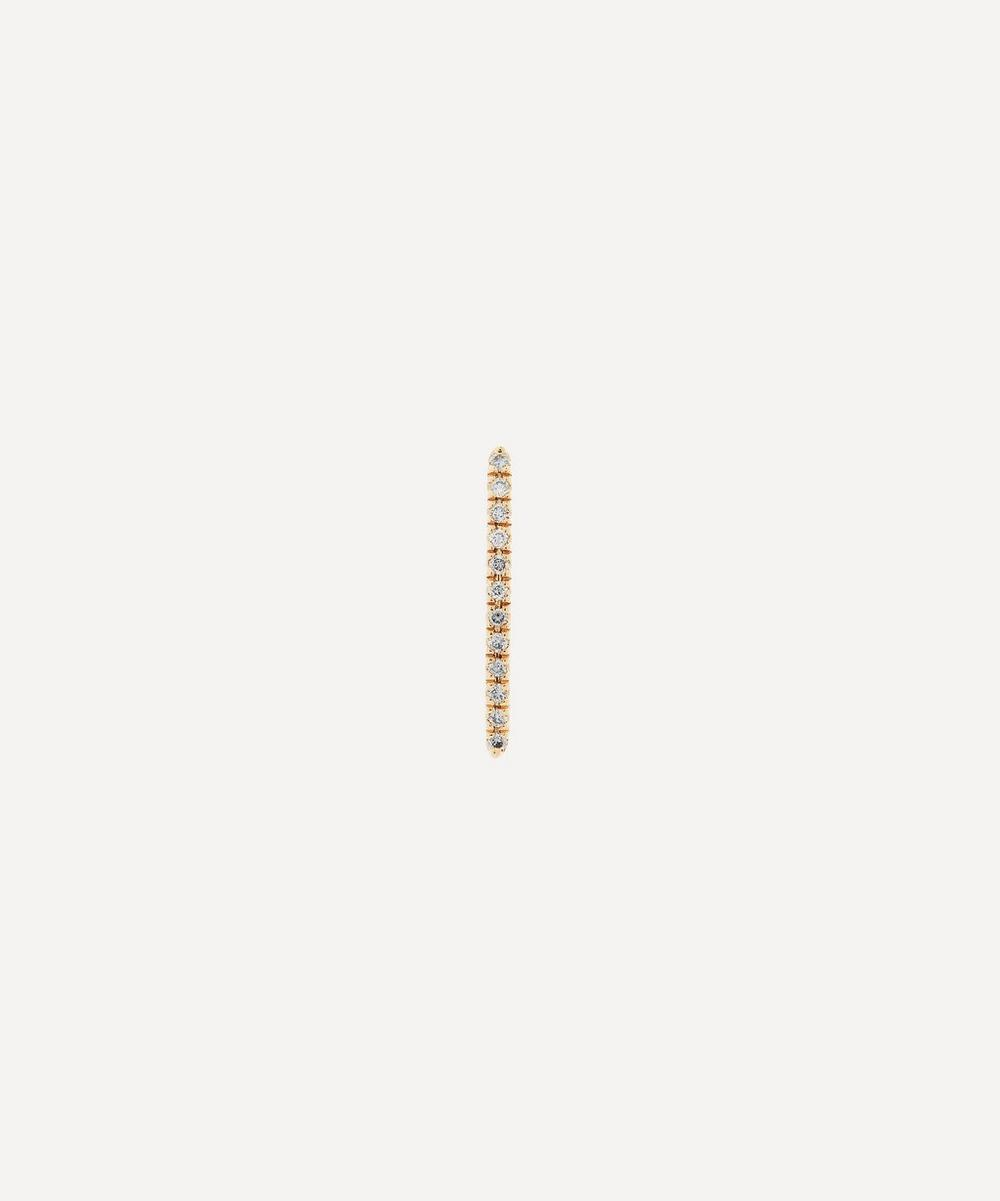Hirotaka - Gold Gossamer Diamond Short Bar Earring