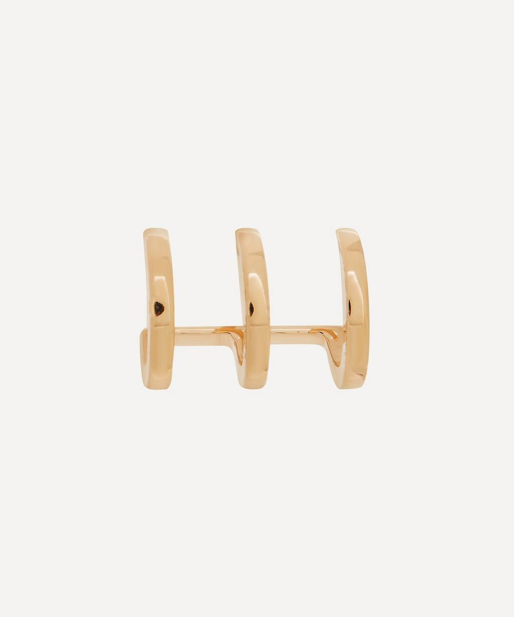 Hirotaka - Gold Manhattan Triple Hoop Earring