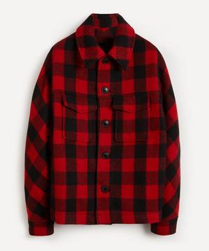 Check Short Wool Jacket