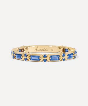 18ct Gold Blue Sapphire Baguette Ring