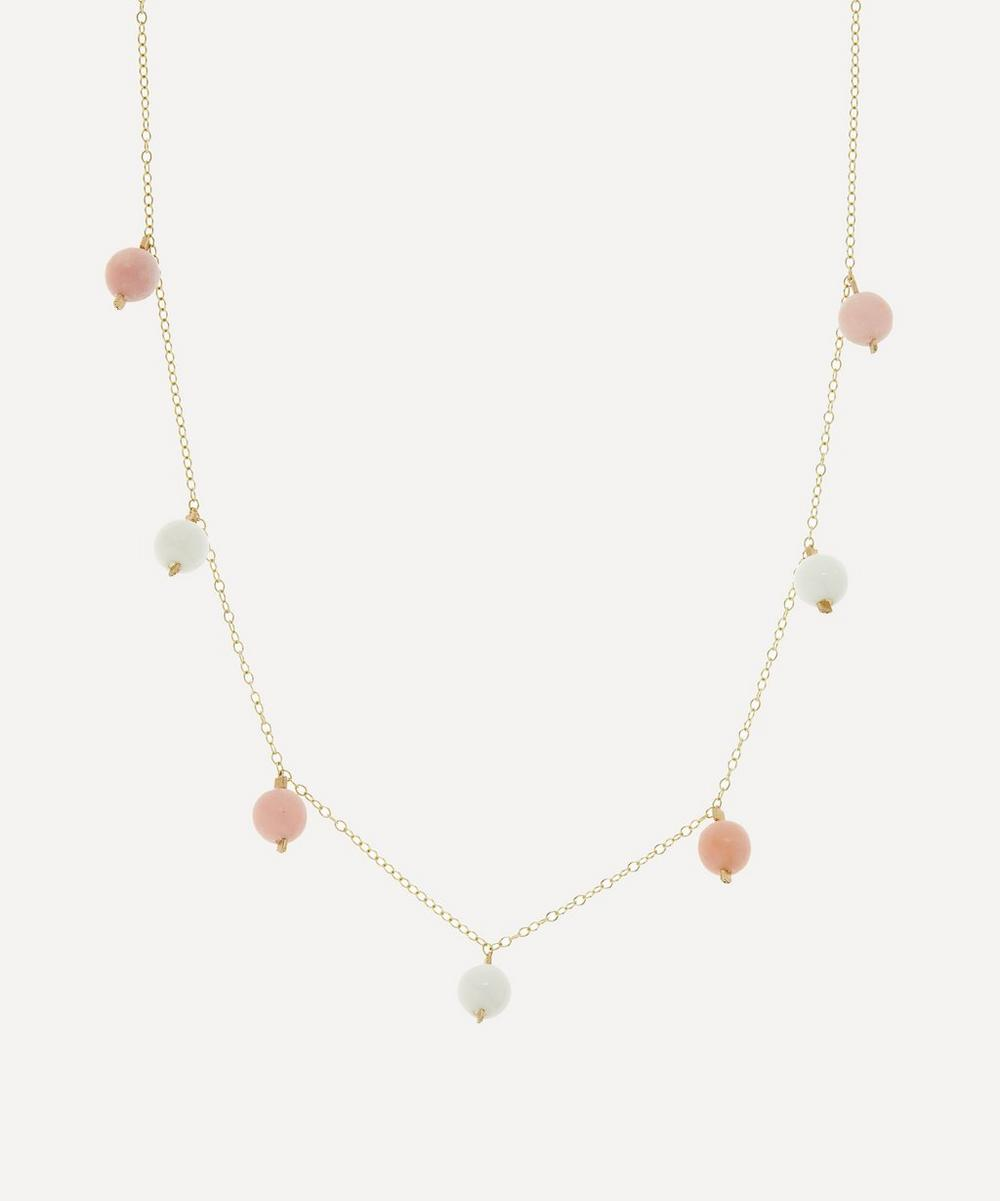 AURUM + GREY - Blush Charmed Bubble Bead Necklace