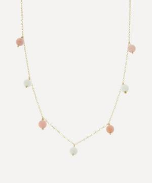Blush Charmed Bubble Bead Necklace