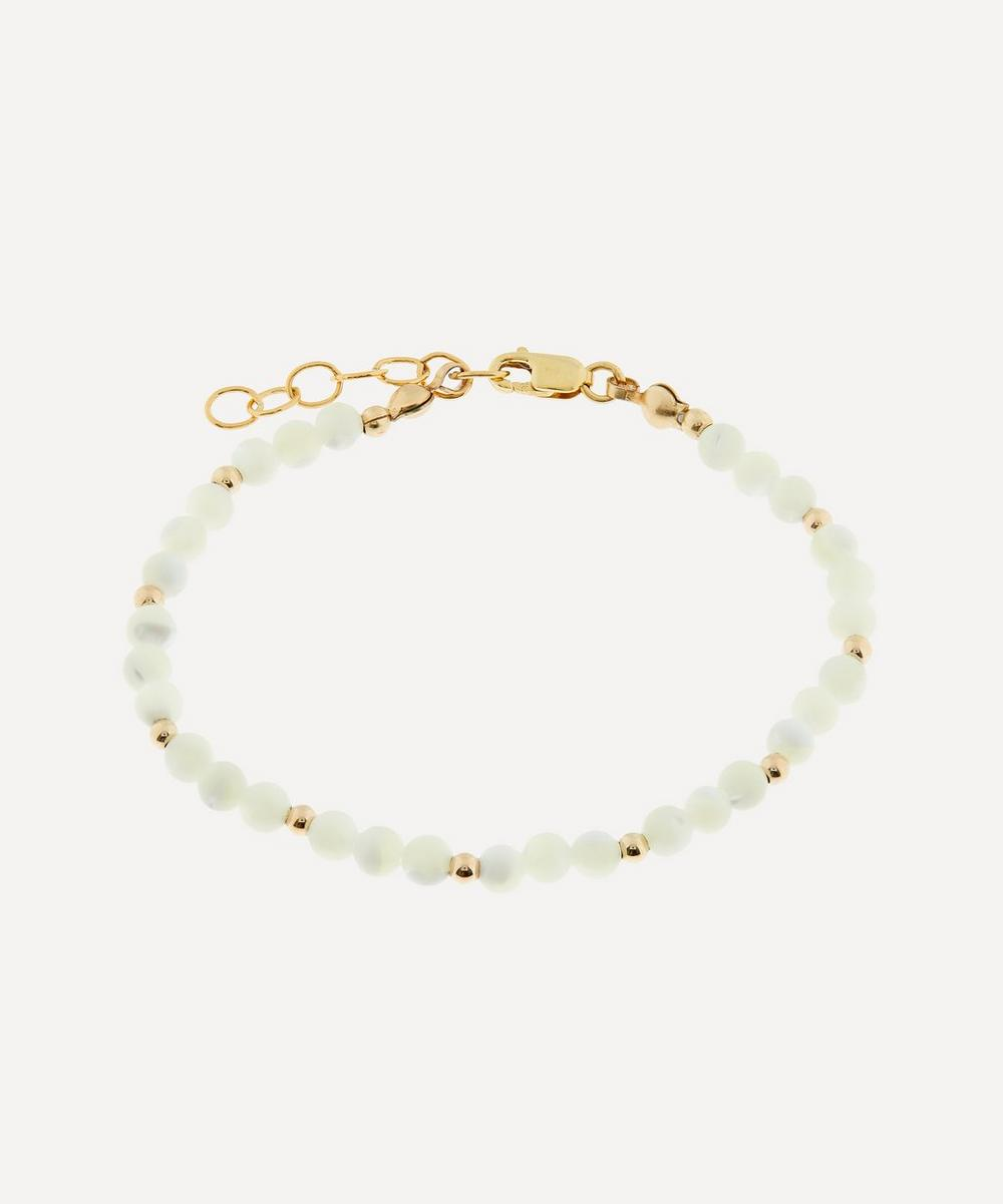 AURUM + GREY - Mother of Pearl Bubble Bead Bracelet