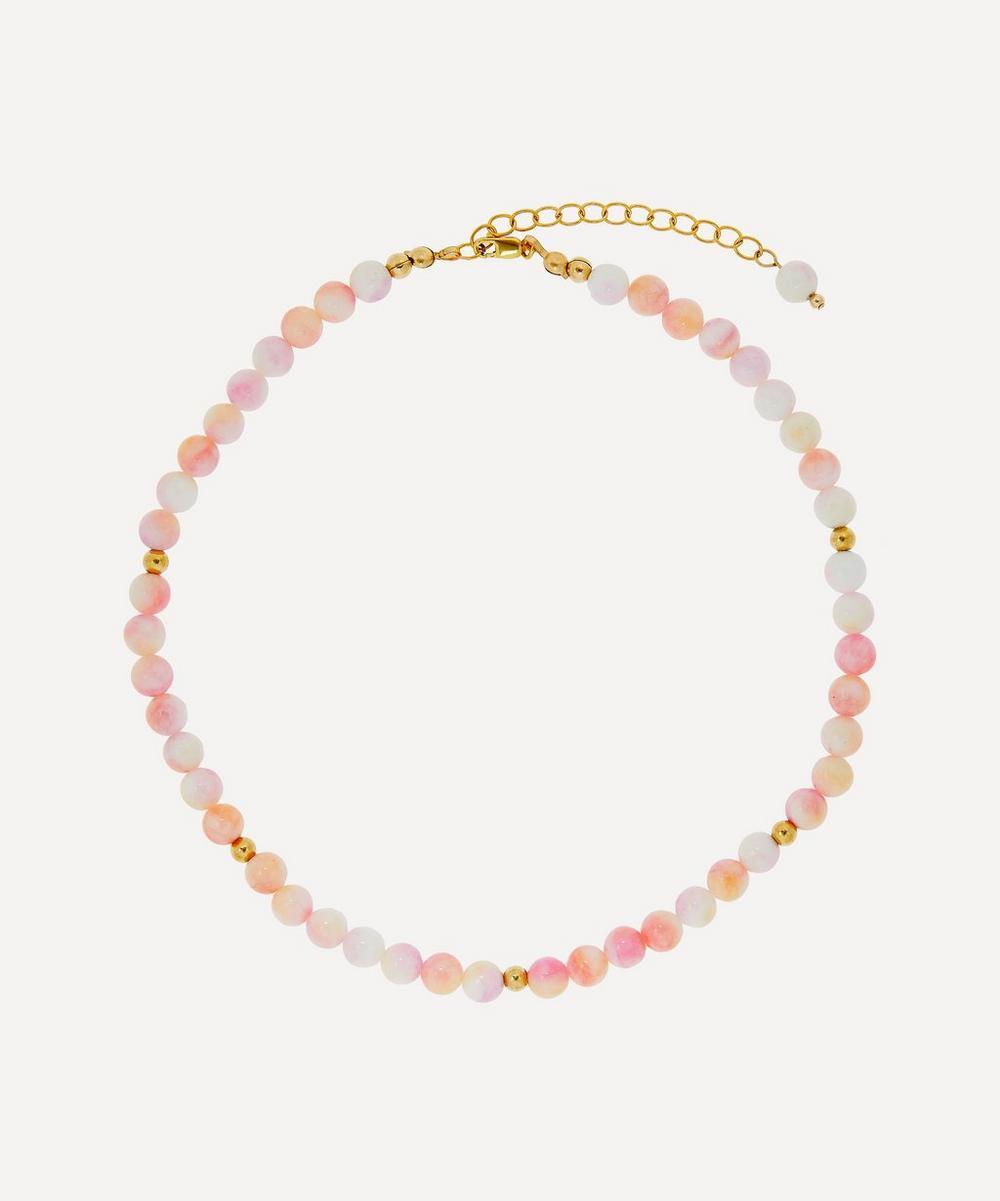 AURUM + GREY - Sunset Tie Dye Bubble Bead Necklace