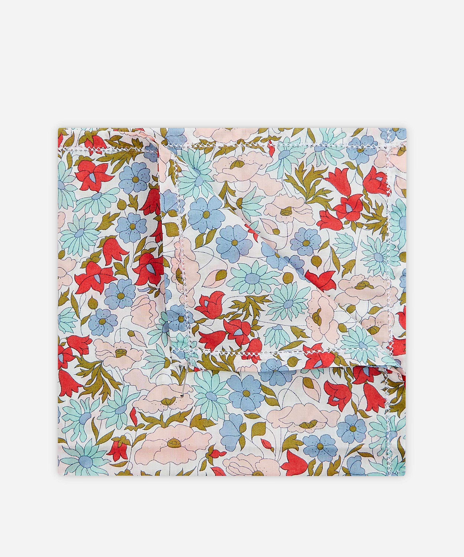 Liberty Pepper tana lawn Liberty print pocket square blue cotton handkerchief Blue pocket square