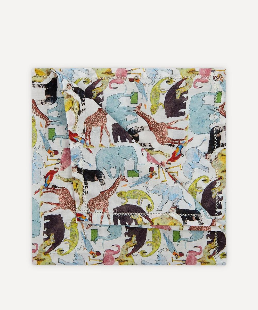 Liberty London - Queue For The Zoo Small Cotton Handkerchief