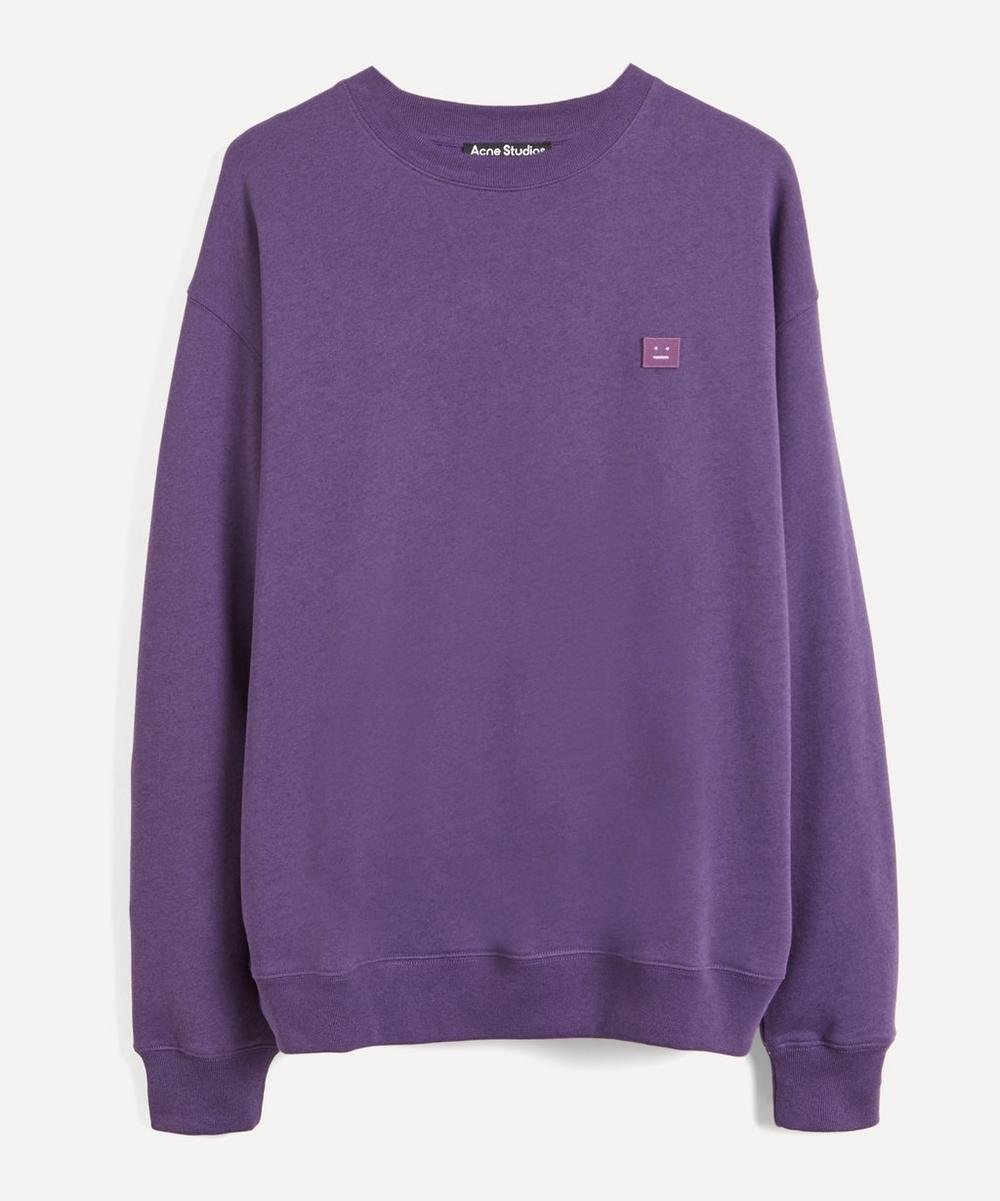 Acne Studios - Face Oversized Cotton Sweater image number 0