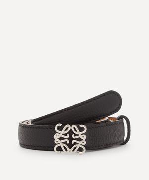 Anagram Buckle Leather Belt