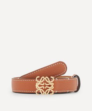 Anagram Buckle Leather Belt