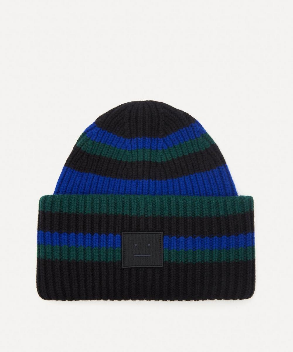 Acne Studios - Striped Wool Beanie Hat image number 0