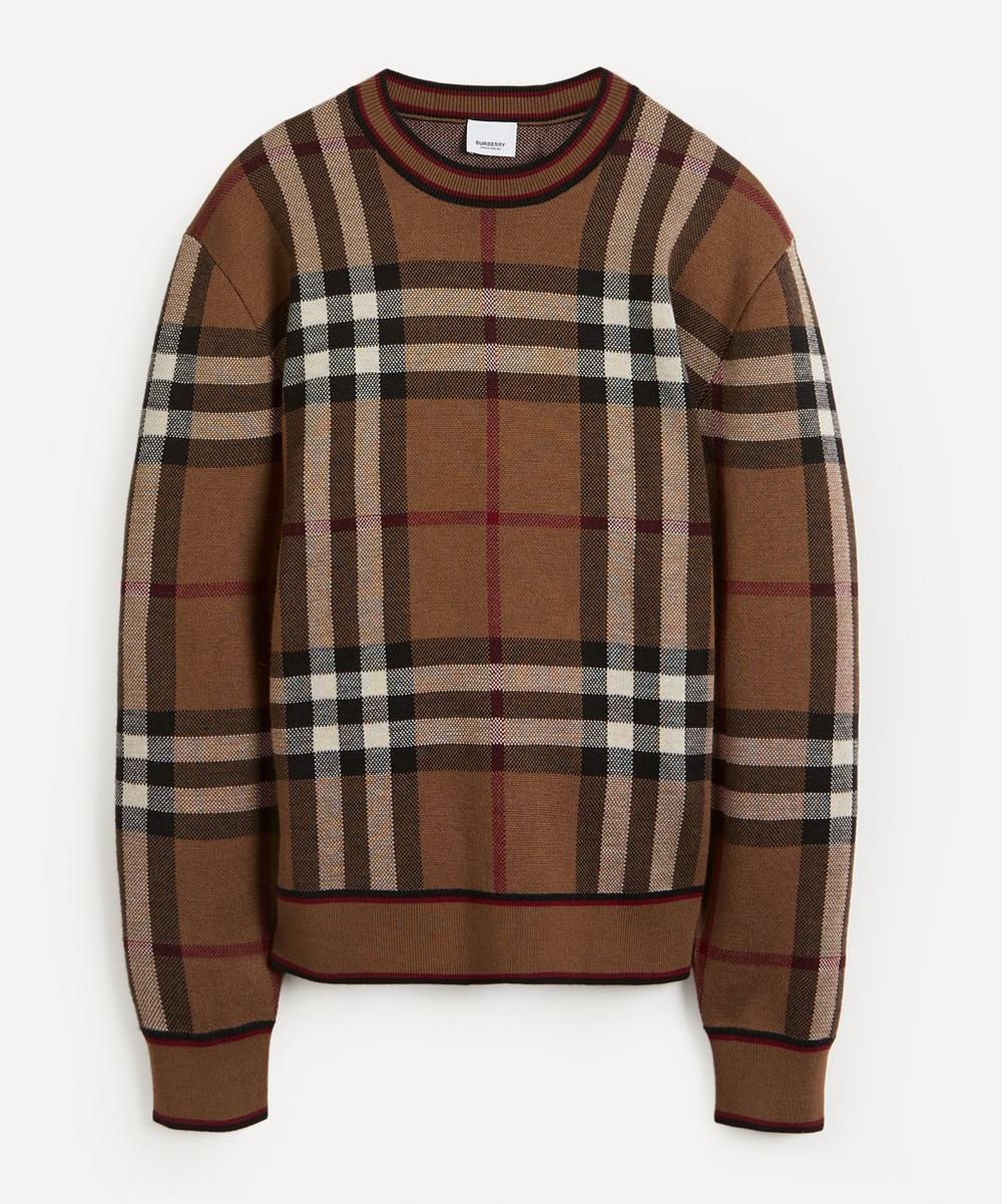 Burberry - Naylor Birch Check Merino Wool Knit Jumper