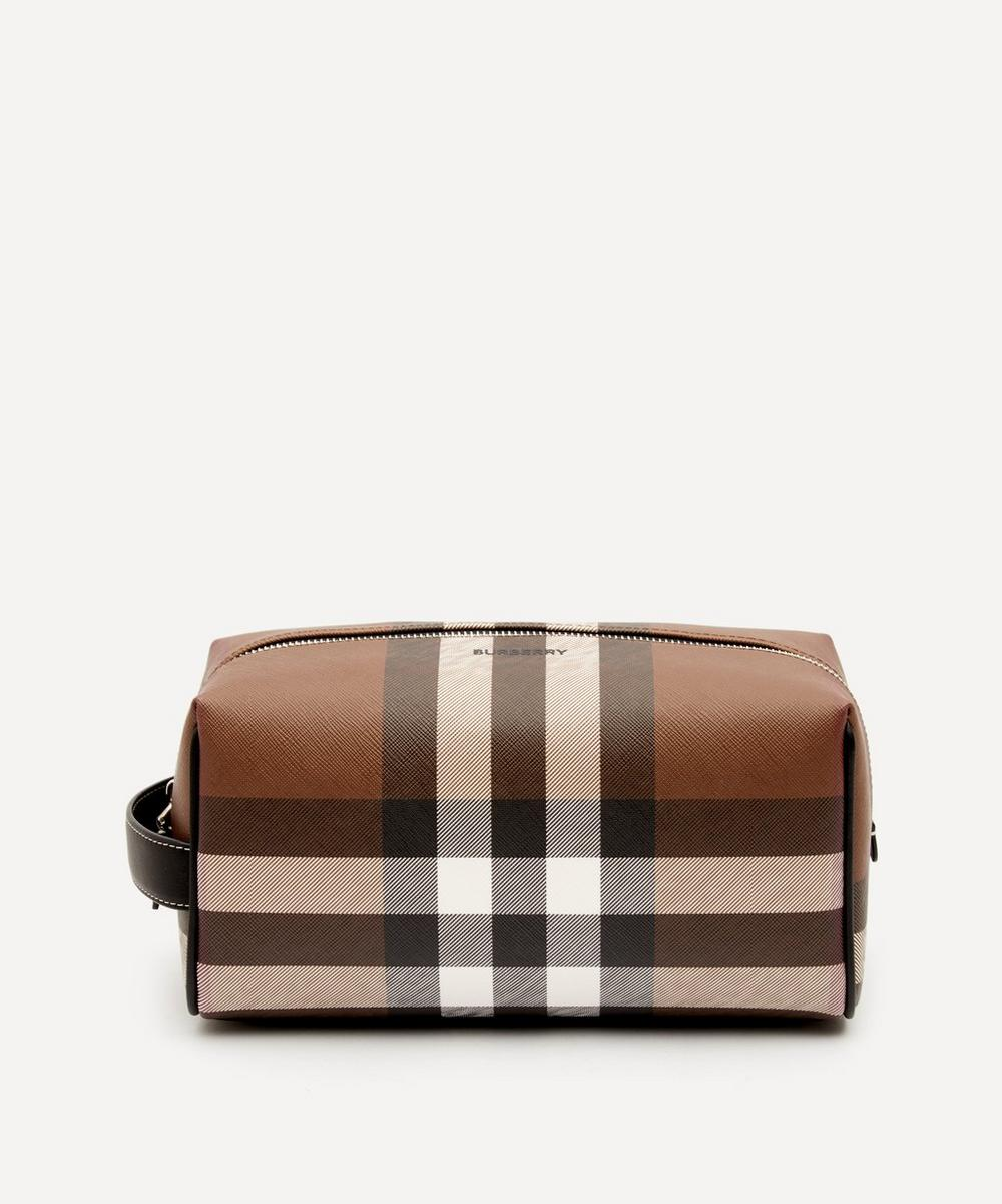 Burberry - E-Canvas Check Travel Pouch