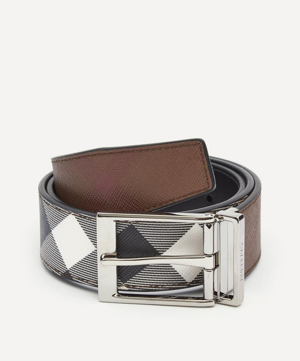 Burberry - Louis Birch Check Reversible Belt