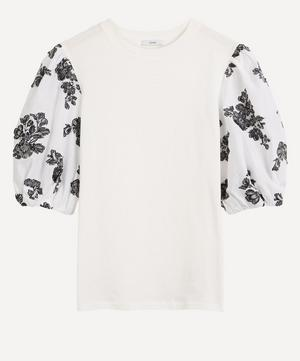 Theodora Puff-Sleeve Cotton T-Shirt