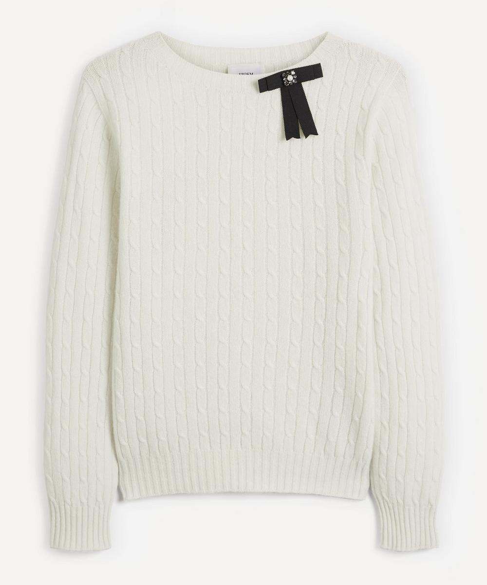 Erdem - Dalton Bow Cashmere-Merino Wool Sweater