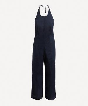 Freya Halterneck Cotton Twill Jumpsuit