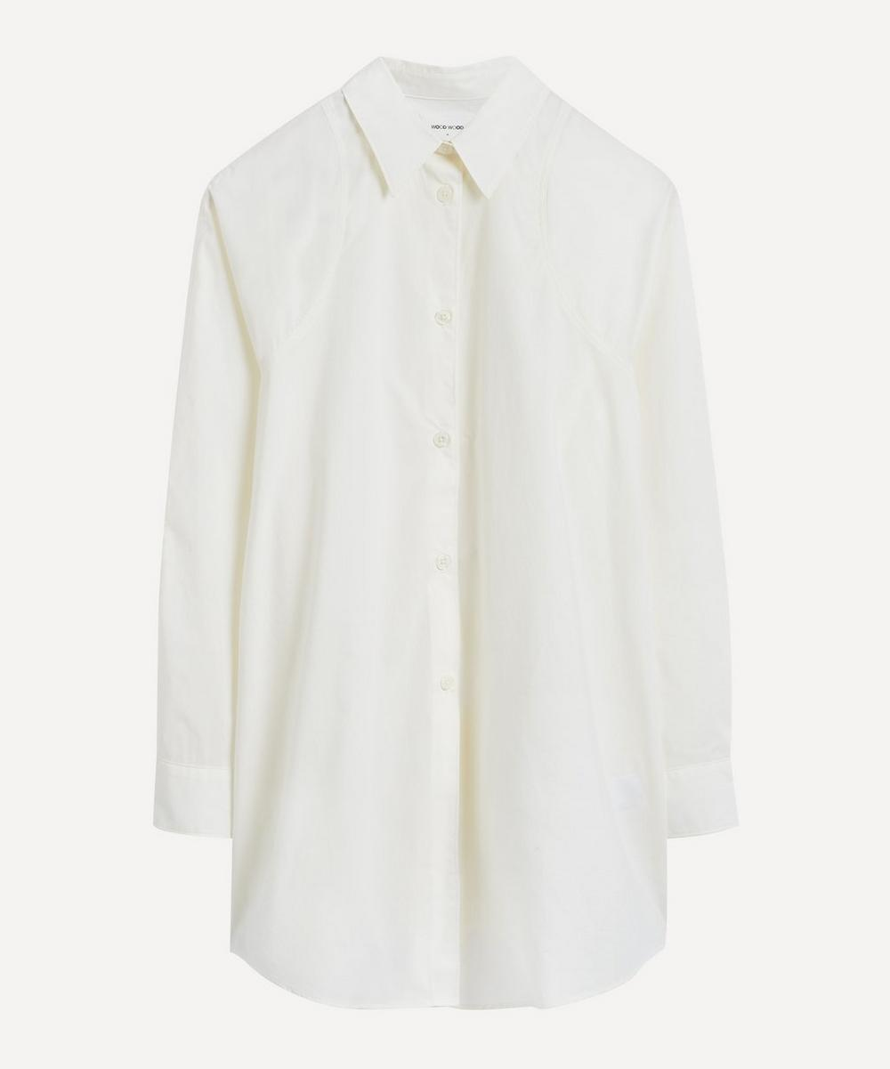 Wood Wood - Greta Long Cotton-Poplin Shirt