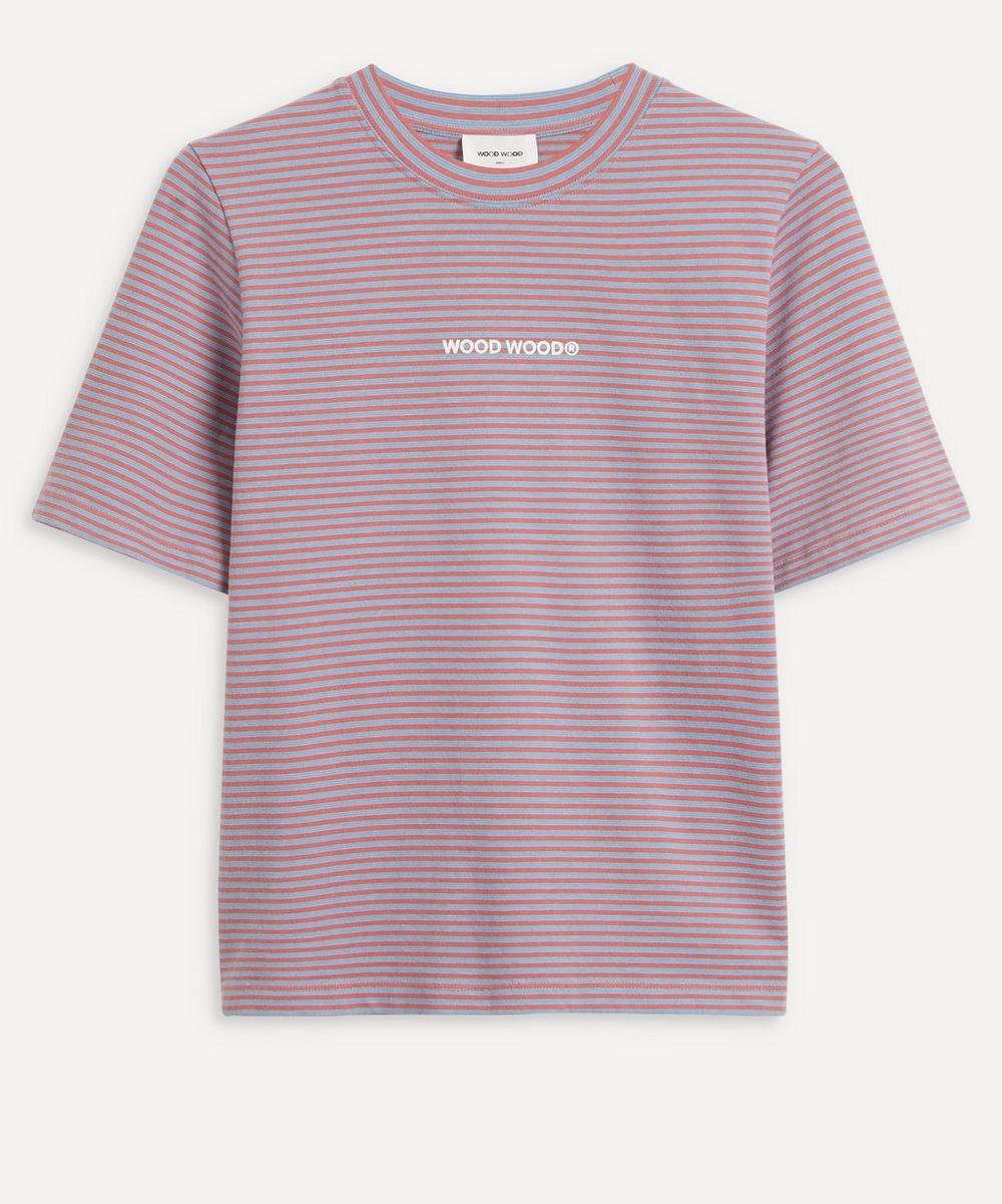 Wood Wood - Alma Heavy Stripe Cotton T-Shirt image number 0