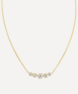 Gold Elyhara Diamond Scoop Pendant Necklace