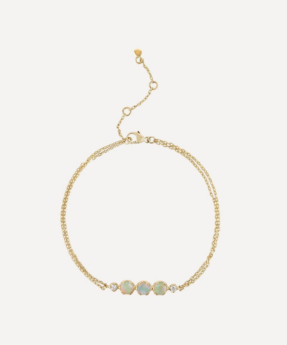 Dinny Hall - Gold Opal and Diamond Bracelet