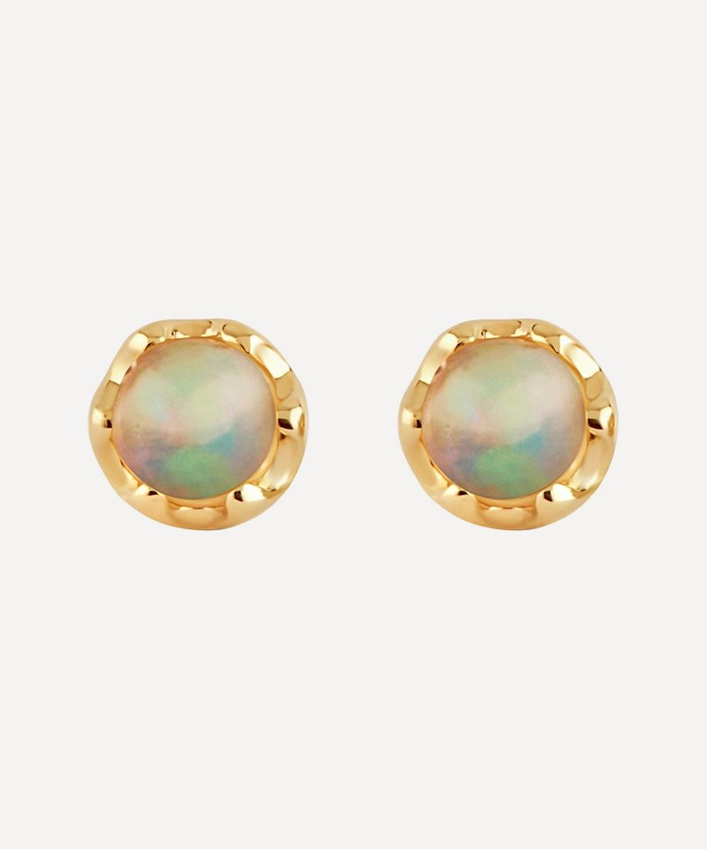 Dinny Hall - Gold Opal Stud Earrings