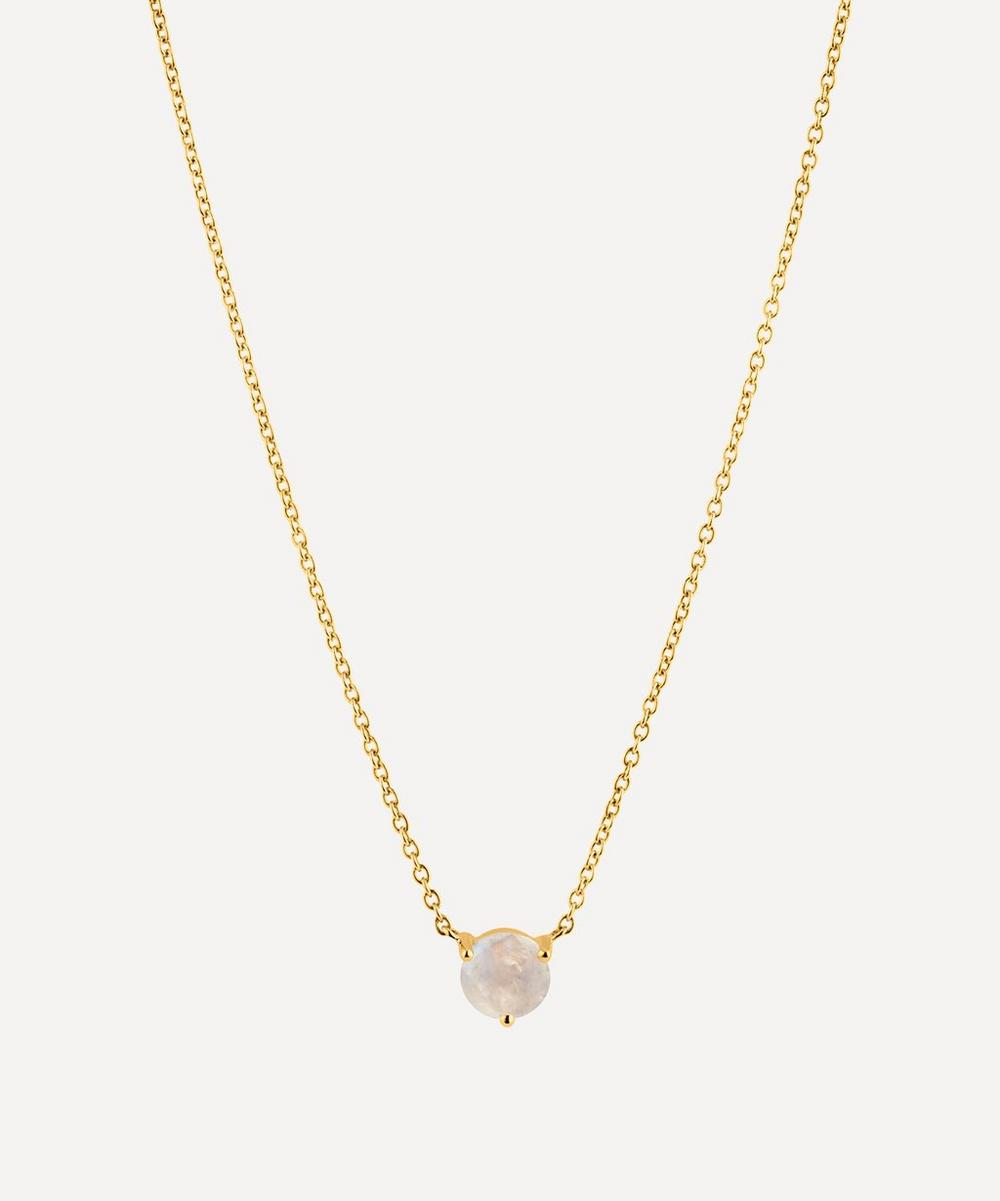 Dinny Hall - Gold Moonstone Pendant Necklace