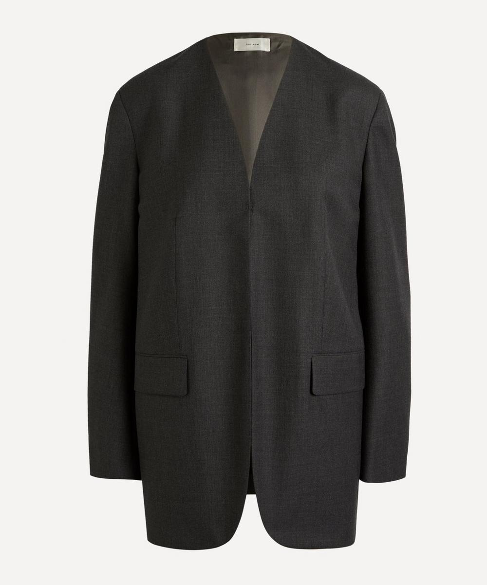 The Row - Fie Collarless Single-Breasted Wool Jacket