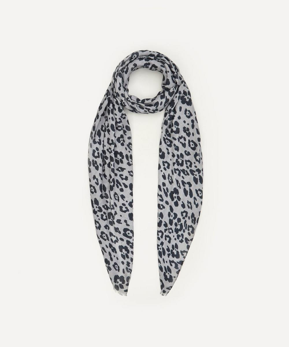 Lily and Lionel - Floral Leopard Print Modal-Blend Scarf