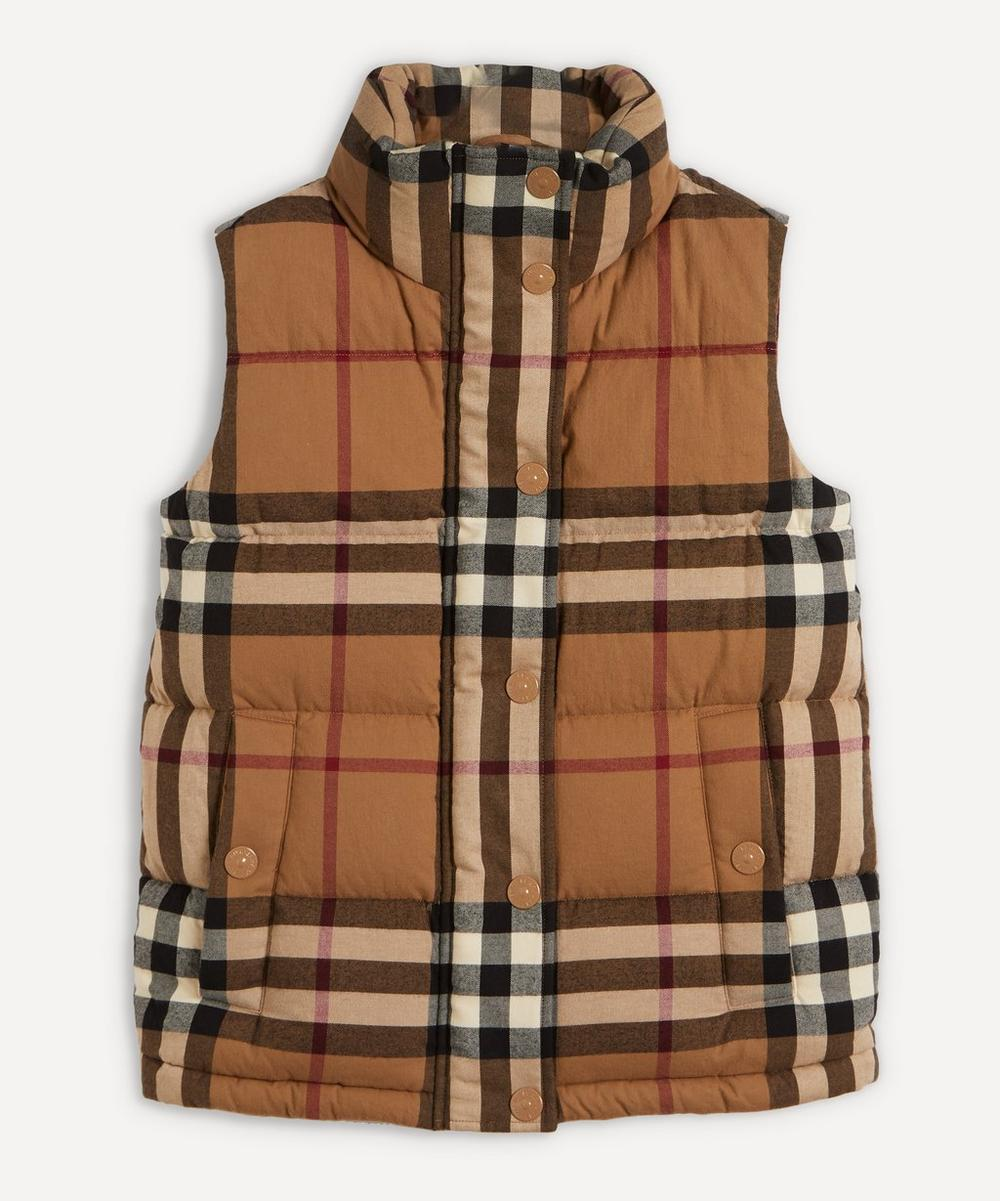 Burberry - Check Cotton Flannel Puffer Gilet