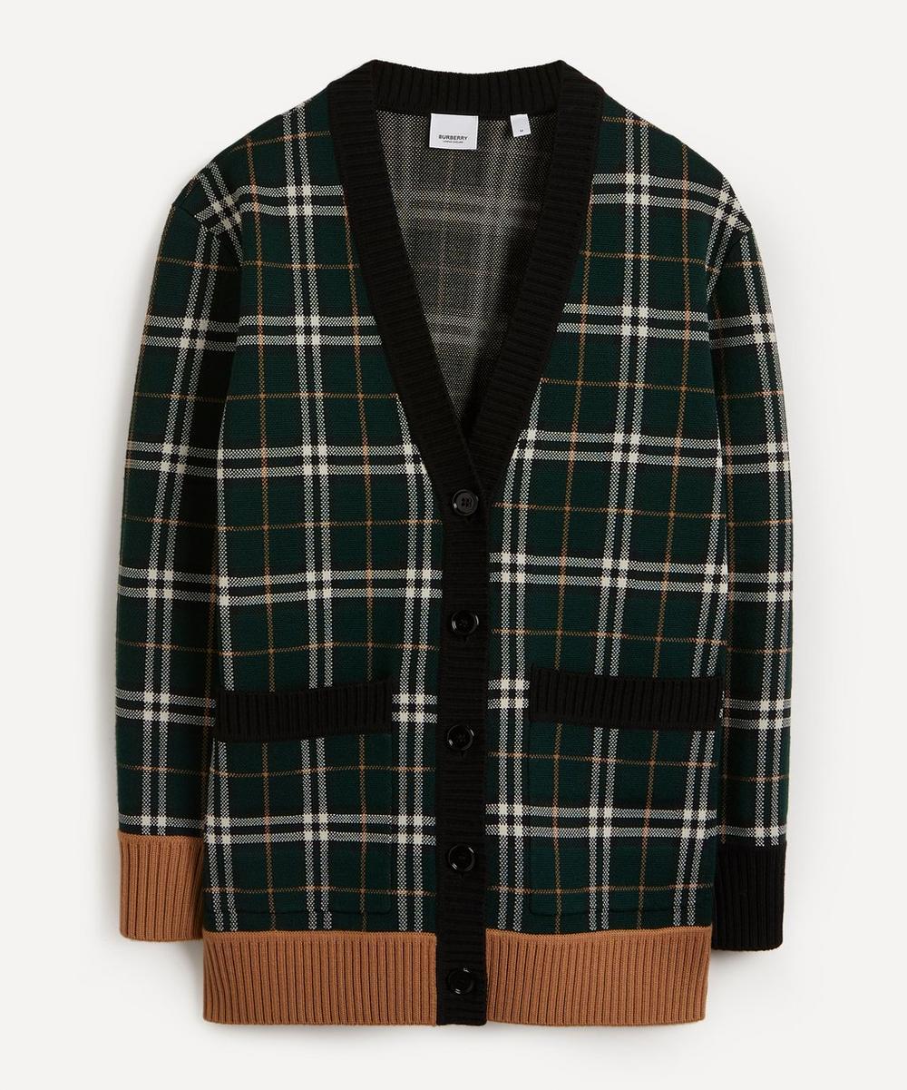 Burberry - Glaisnock Check Merino Wool-Blend Cardigan