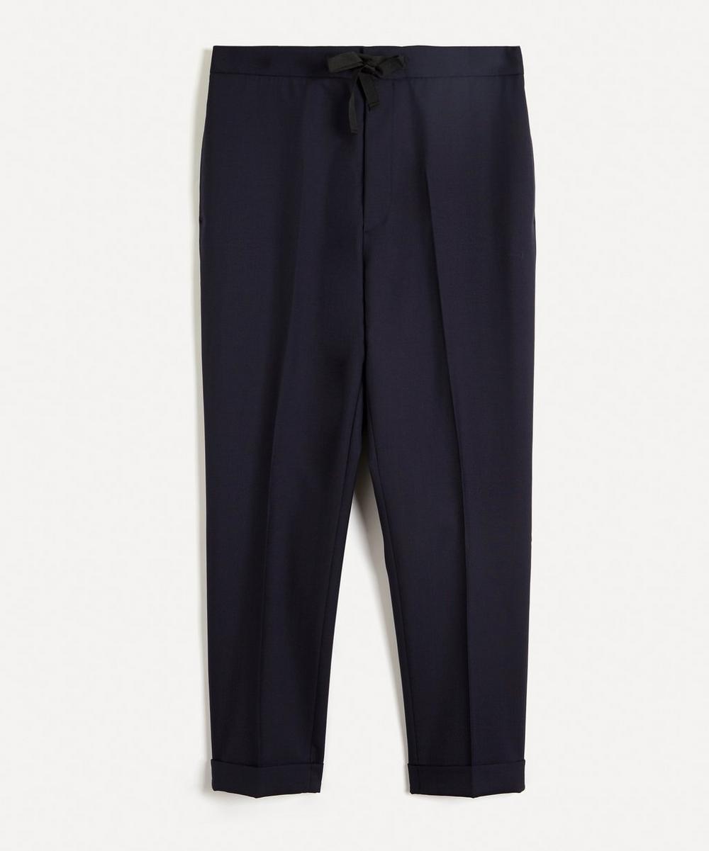 Officine Générale - Joseph Italian Fresco Wool Drawstring Trousers