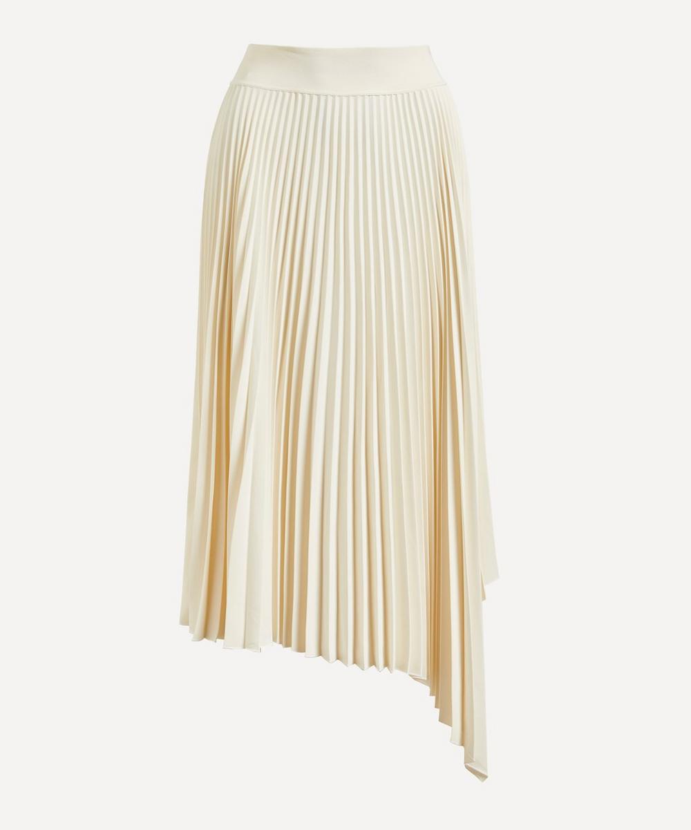 Joseph - Swinton Pleated Crêpe Midi-Skirt