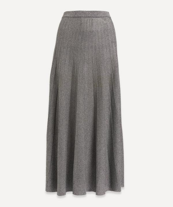 Joseph - Lurex Pleated Midi-Skirt
