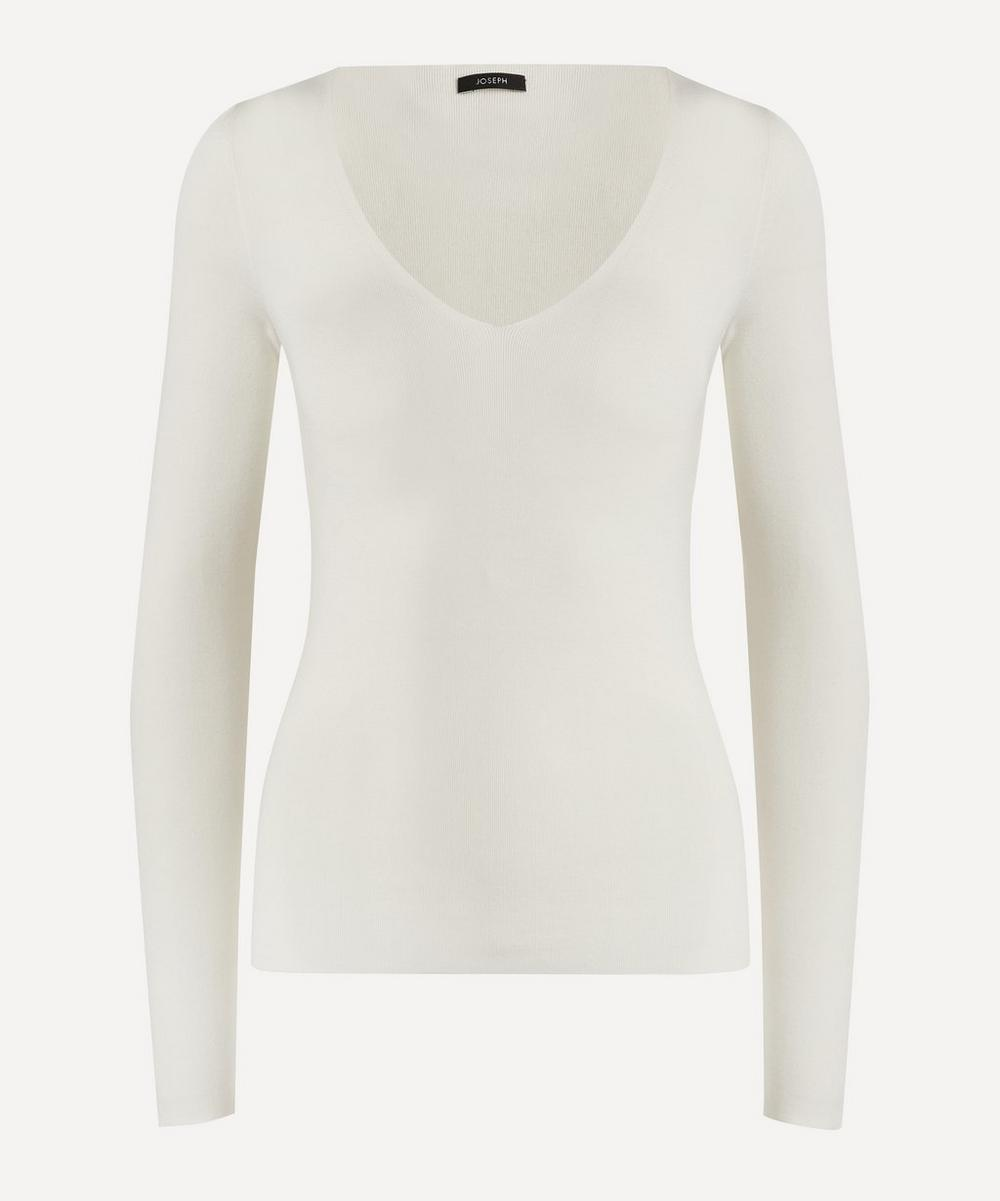 Joseph - V-Neck Stretch-Silk Knit