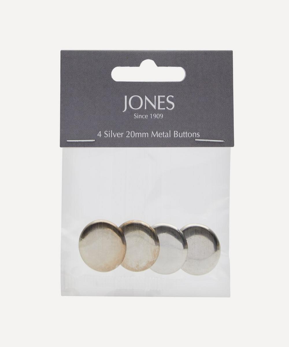 Jones Buttons - Metal 20mm Blazer Front Buttons – Pack of 4