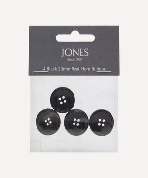 Horn 20mm Jacket Front Buttons – Pack of 4