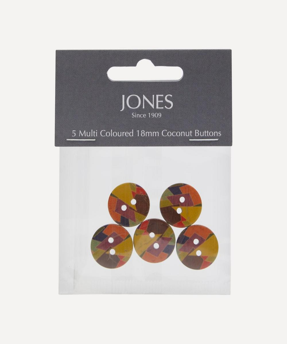 Jones Buttons - Coconut 18mm Ladies Buttons – Pack of 5