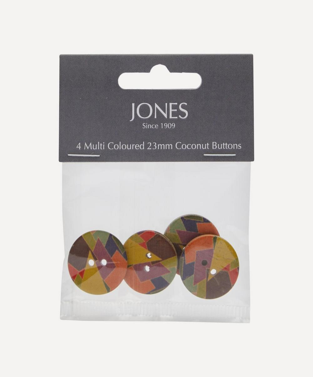Jones Buttons - Coconut 23mm Ladies Buttons – Pack of 4