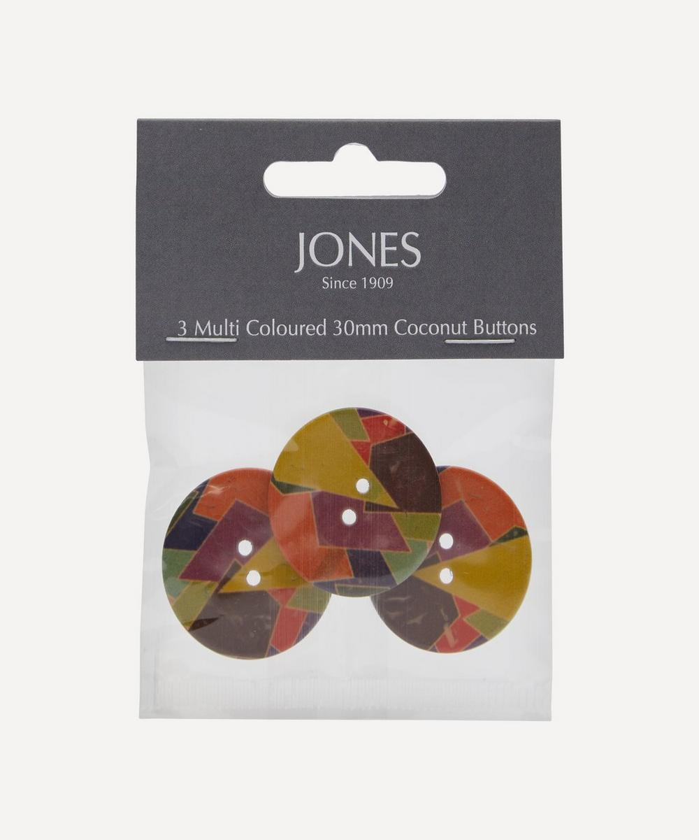 Jones Buttons - Coconut 30mm Ladies Buttons – Pack of 3